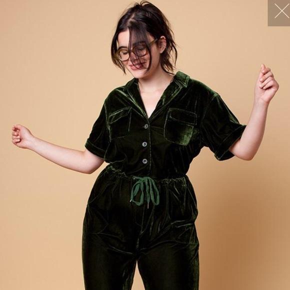 30edeaadef0d Rachel Antonoff Jewel Velvet Jumpsuit